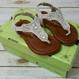 White Embellished Sandals  (toddler)